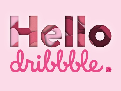 Hello Dribbble! pattern texture graphic  design designer firstshot debut photoshop illustrator design