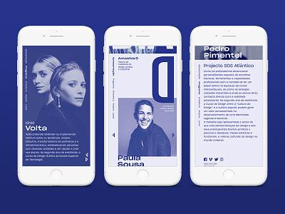 Dia D: Design Talks — Event Mobile Web Page duo tone duotone blue ux ui web design