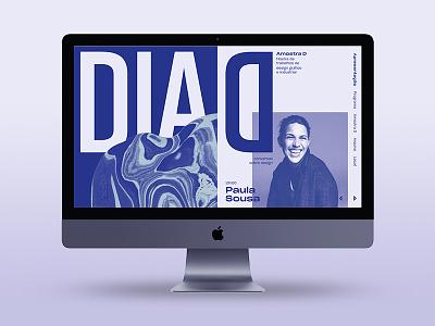 Dia D: Design Talks — Event Desktop Home Page web design duo tone ux ui duotone blue
