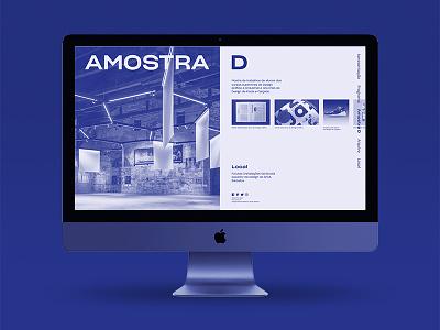 Dia D: Design Talks — Amostra D Web Page web design duo tone ux ui duotone blue