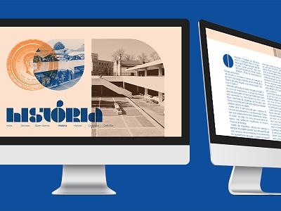 Barcelos Municipal Market — Website desktop web design typography stencil organic identity grid fields design color branding