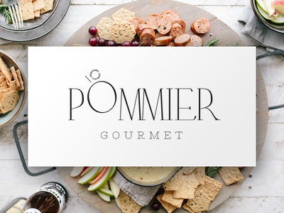 Pommier — Logo & Type Design food typeface typography restaurant gourmet branding logotype