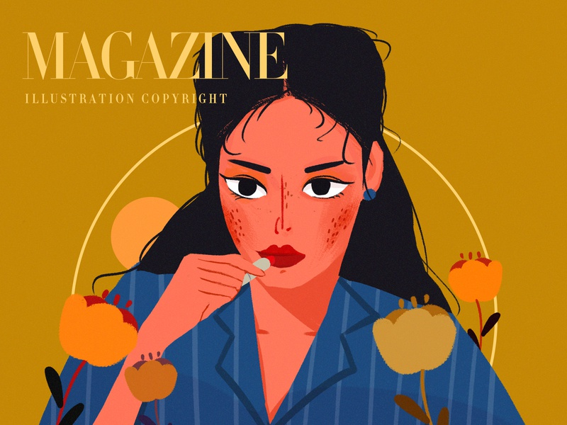 Magazine web illustration