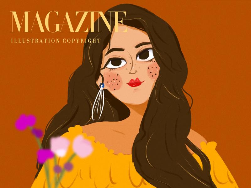 Magazine5 design illustration