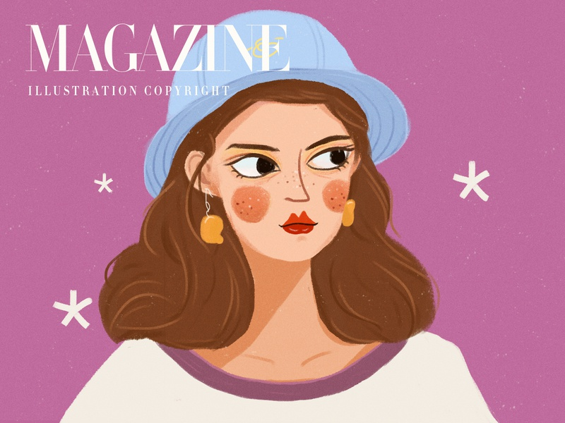 Magazine9 design illustration