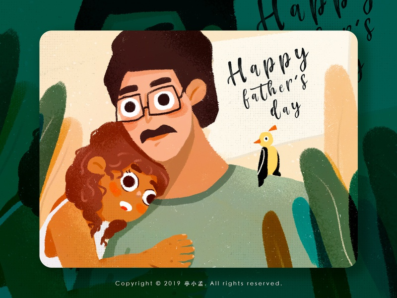 Happy father's day design illustration