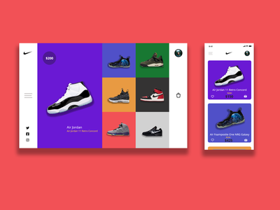 Nike Shoe Shop - Featured Shoe Page