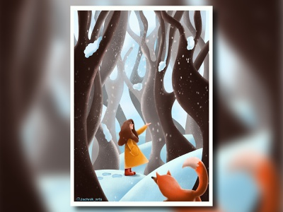 Snow Forest colors design brush digital art art snow forest procreate illustraion