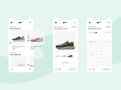nike app multi color detail ux ui ecommerce nike app shoes nike shop app