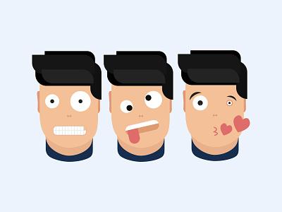 Nerd man characters character beginner emotions illustration