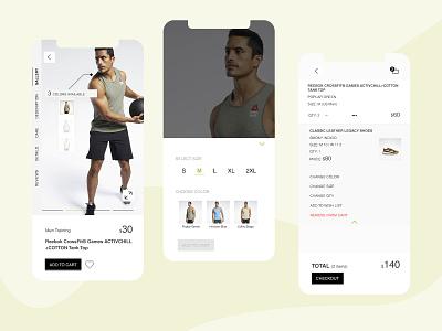 sport shop app shopping app shopping mobile design mobile app online shop mobile minimal ios app add to cart ui design app design shop sport