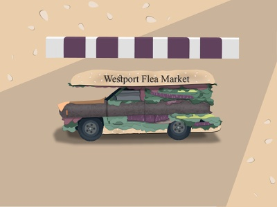 Glutton Truck weekly warm-up weeklywarmup burger truck car illustration