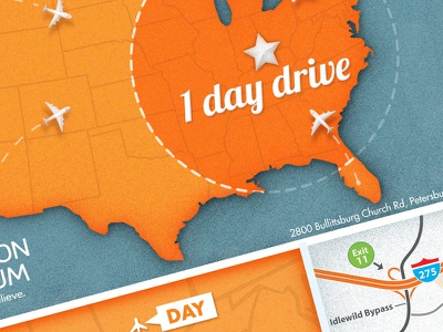USA Map of Museum Location (full-size) illustration airplane flying map plane texture usa drive