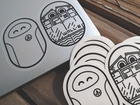 Eve and Walle Stickers - Pixar Pill Pals