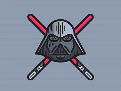 Darth Vader star wars icon illustration lightsaber maythe4th vader