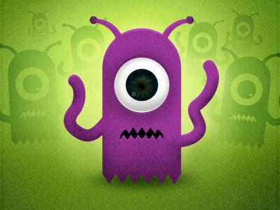 Alien Character Danflynndesign purple alien green aliens illustration purple alien