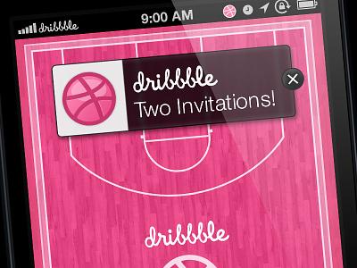 Two Dribbble Invitations Giveaway! invite dribbble invite invitation giveaway basketball court iphone wallpaper