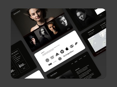 Photography Website ui design web design interface design ux ui