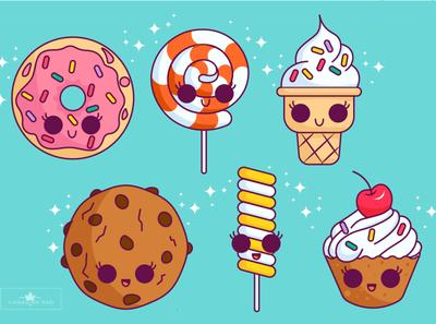 Icons for pastry shop icon logo branding ui kids illustration design vector characterdesign illustration art illustraion