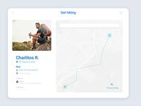 Location Tracker #DailyUI 020 clean ui  ux app design graphic design tracker app ui design