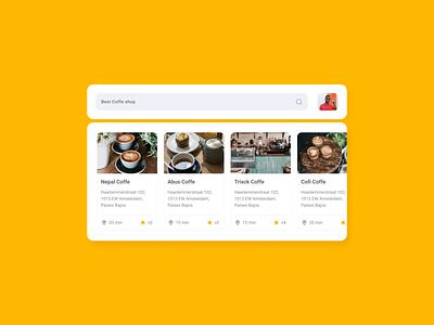 #dailyui 22 - Search bar clean app uidesign ui clean dailyui coffe search bar search