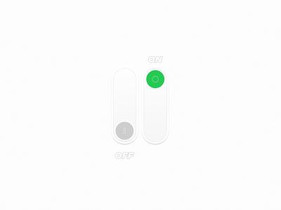 On/Off switch #DailyUI 015 design graphic design ui clean ui  ux ui design