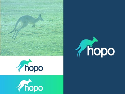 hopo dailylogochallenge logodesign dailylogodesign dailylogo logochallenge kangaroo logo kangaroo logotype logo minimalist branding design branding dailylogochallenge