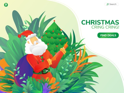 Christmas Landing Page Illustration best design best shot illustration branding landingpage uxui santaclaus happy christmas best logo christmas landing christmas landing christmas party christmas flyer christmas tree christmas card christmas