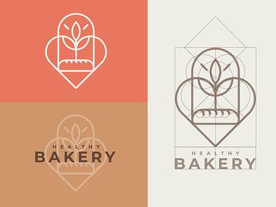 Healthy Bakery identity pastry bakery healthy graphic design logo design branding brand