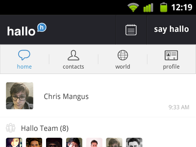 hallo for Android  navigation android app hallo voice app ui