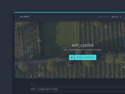 App Center — Landing Page