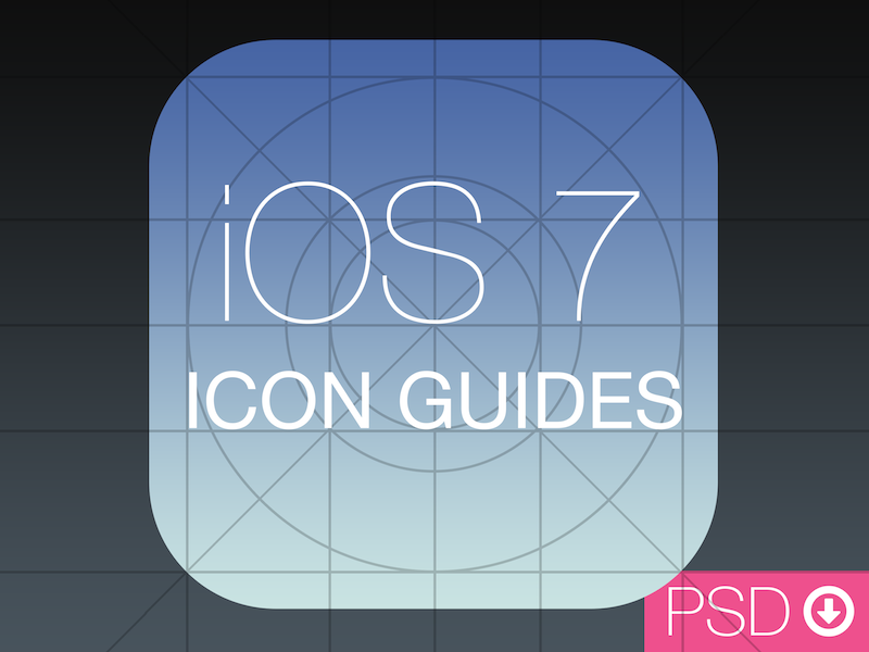 iOS 7 Icon Guides PSD icon guides grid ios ios 7 ios7 wwdc app app icon seven 7 apple iphone ipad