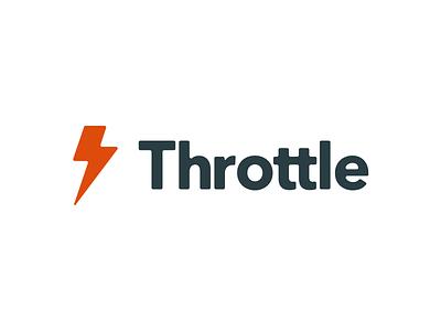 Rebrand for Throttle logo rebrand redesign lightning throttle