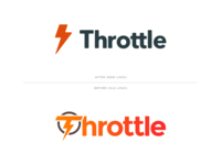 Before & After before and after before after lightning logo rebrand redesign after before throttle