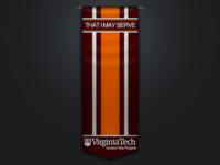 That I May Serve - Virginia Tech Burruss Banner