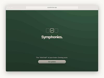 Symphonies website green website