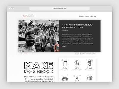 Potential redesign for Make a Mark website nonprofit website concept website