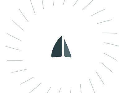 Two tone sails logo sails