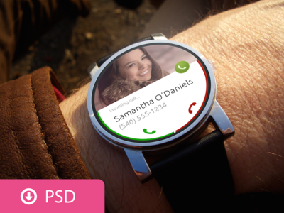 Android Wear PSD Template
