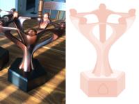 The Make a Mark Award Trophy