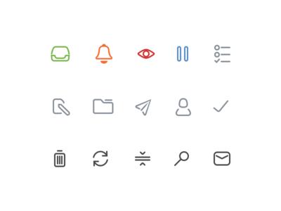 Custom icon set for Mail Pilot 3