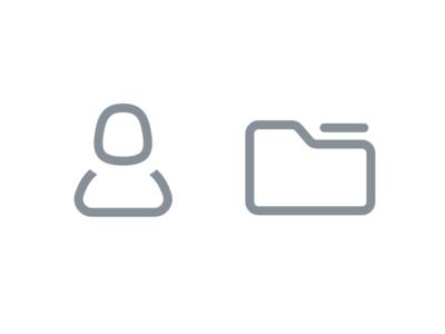 Custom icons for accounts and folders
