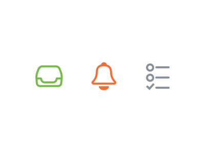 Custom inbox, reminder, and list icons