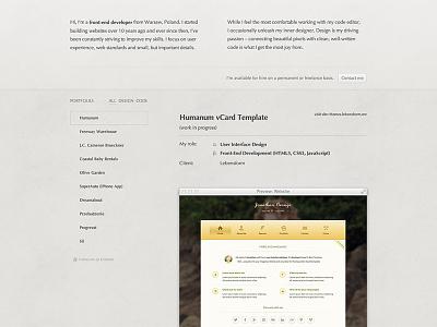 Portfolio portfolio website texture filter web personal responsive front-end frontend