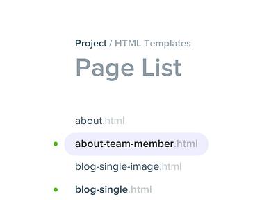 Page List list files file list simple flat proxima nova
