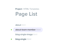 Page List