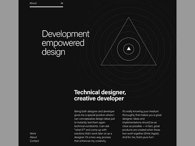 Portfolio: About typography flat minimal black dark illustration swiss design about clean interface portfolio web website