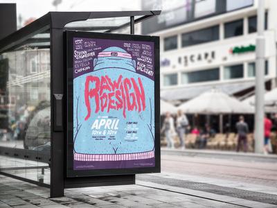 RAW DESIGN | AIGA Convention Poster Design+Illustration