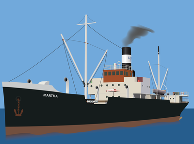 S/S Martha - Steam ship - Illustrator