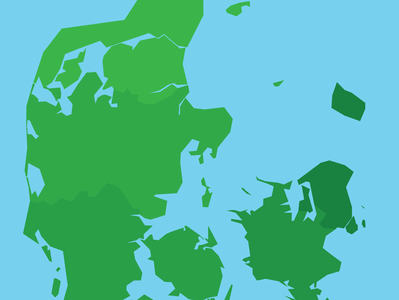 Map of Denmark - Illustrator